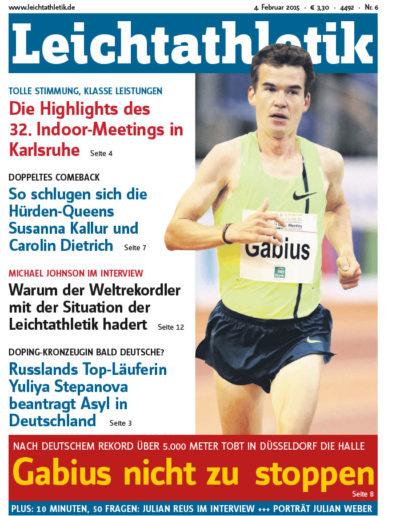 Bild Zeitschrift Leichtathletik Artikel vom 04. Februar 2015, Ausgabe Nr. 6 - Titelbild